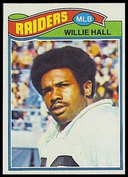 Willie Hall 1977 Topps football card