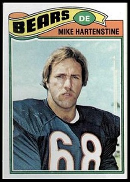 Mike Hartenstine 1977 Topps football card