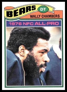 Wally Chambers 1977 Topps football card
