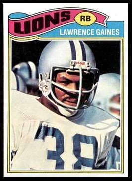 Lawrence Gaines 1977 Topps football card