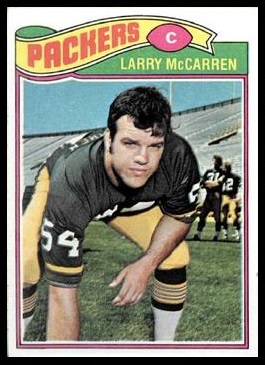 Larry McCarren 1977 Topps football card