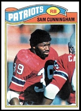Sam Cunningham 1977 Topps football card