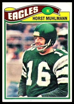 Horst Muhlmann 1977 Topps football card