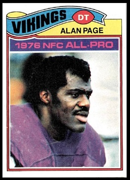 Alan Page 1977 Topps football card
