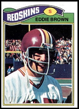 Eddie Brown 1977 Topps football card