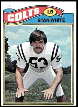 Stan White 1977 Topps football card