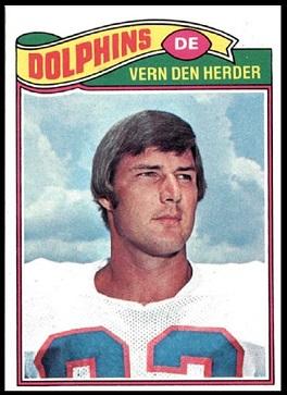 Vern Den Herder 1977 Topps football card