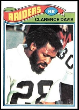 Clarence Davis 1977 Topps football card
