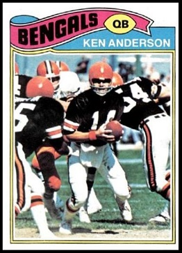 Ken Anderson 1977 Topps football card