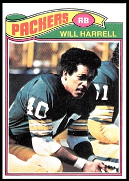 Will Harrell 1977 Topps football card