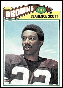 Clarence Scott 1977 Topps football card