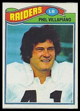 Phil Villapiano 1977 Topps football card
