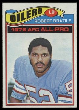 Robert Brazile 1977 Topps football card