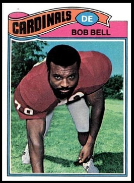 Bob Bell 1977 Topps football card