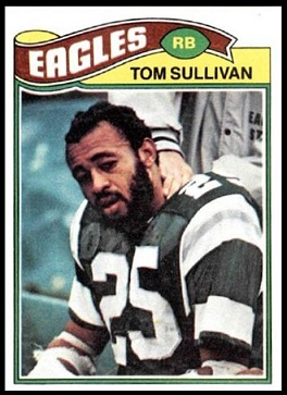 Tom Sullivan 1977 Topps football card