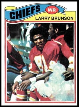 Larry Brunson 1977 Topps football card