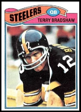 Terry Bradshaw 1977 Topps football card