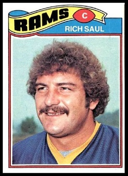 Rich Saul 1977 Topps football card