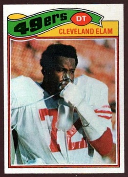Cleveland Elam 1977 Topps football card