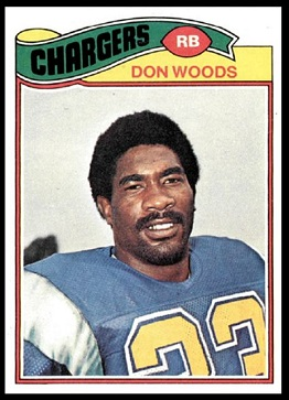 Don Woods 1977 Topps football card