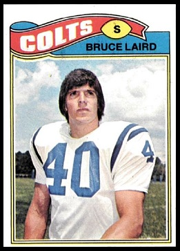 Bruce Laird 1977 Topps football card