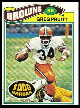 Greg Pruitt 1977 Topps football card