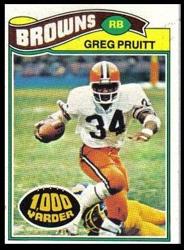 Greg Pruitt 1977 Topps football card