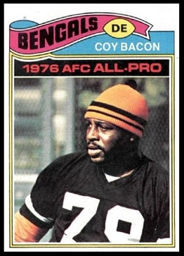 Coy Bacon 1977 Topps football card