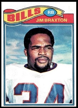 Jim Braxton 1977 Topps football card