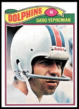 Garo Yepremian 1977 Topps football card