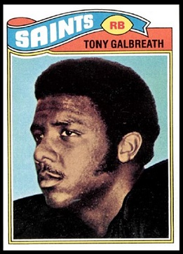 Tony Galbreath 1977 Topps football card