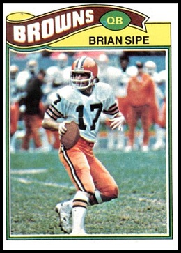 Brian Sipe 1977 Topps football card