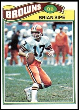 Brian Sipe 1977 Topps football card