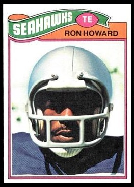 Ron Howard 1977 Topps football card