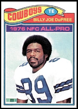 Billy Joe DuPree 1977 Topps football card