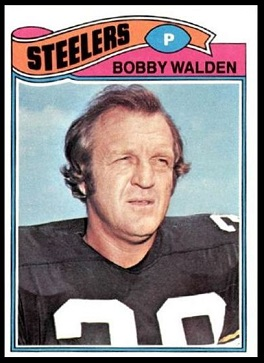 Bobby Walden 1977 Topps football card