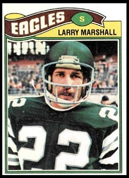 Larry Marshall 1977 Topps football card