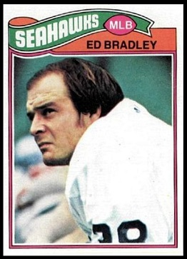 Ed Bradley 1977 Topps football card