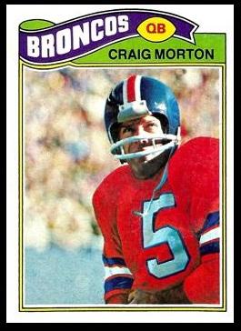 Craig Morton 1977 Topps football card