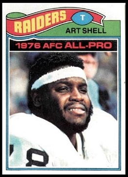 Art Shell 1977 Topps football card