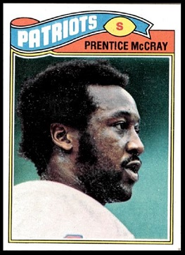 Prentice McCray 1977 Topps football card