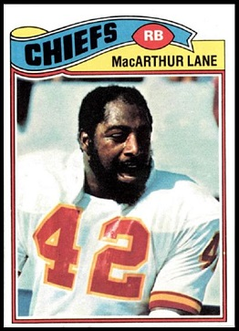 MacArthur Lane 1977 Topps football card