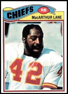 MacArthur Lane 1977 Topps football card