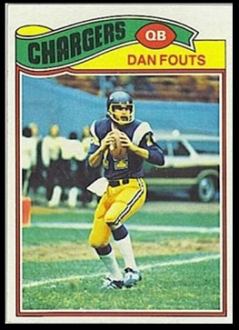 Dan Fouts 1977 Topps football card