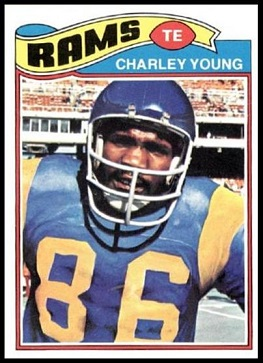 Charle Young 1977 Topps football card