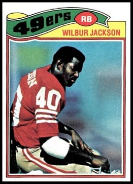 Wilbur Jackson 1977 Topps football card