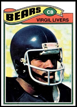 Virgil Livers 1977 Topps football card