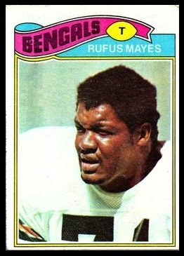 Rufus Mayes 1977 Topps football card