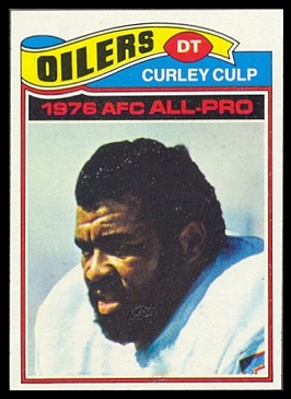 Curley Culp 1977 Topps football card