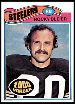 Rocky Bleier 1977 Topps football card